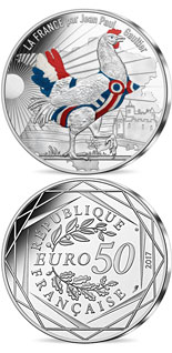 50 euro coin France by Jean Paul Gaultier | France 2017