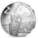 Image of 10 euro coin - France by Jean Paul Gaultier | France 2017.  The Silver coin is of UNC quality.