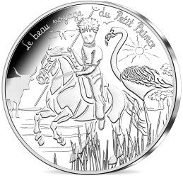 Image of 10 euro coin - The Little Prince's beautiful journey | France 2016.  The Silver coin is of UNC quality.
