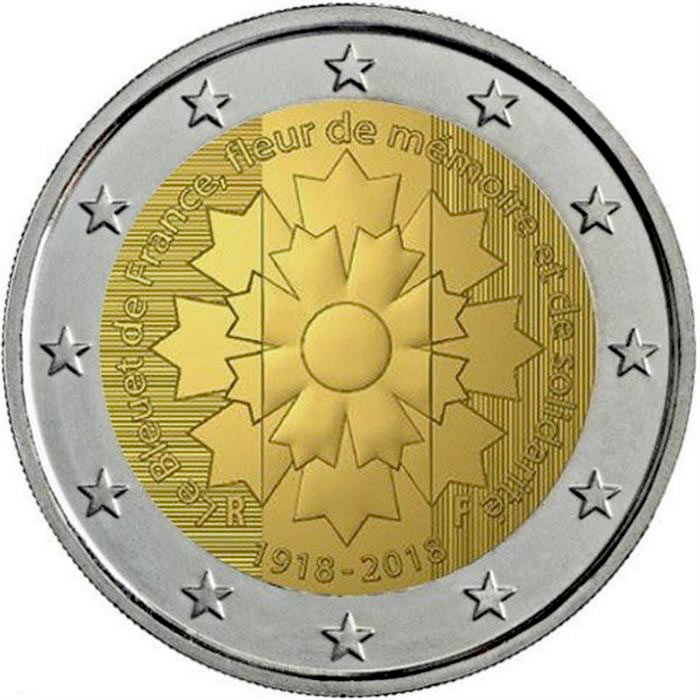 Image of Centenary of the end of World War I – 2 euro coin France 2018