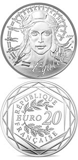 20 euro coin Marianne - Equality | France 2018