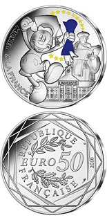50 euro coin Mickey et la France - Student | France 2018