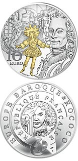 10 euro coin The Age of Baroque and Rococo | France 2018