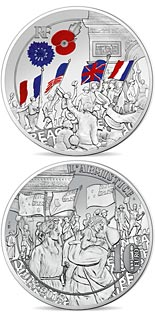 10 euro coin People Jubilation | France 2018