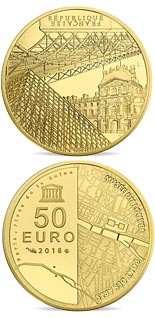 50 euro coin The Seine Banks: Orsay - The Louvre and the Pont des Arts | France 2018