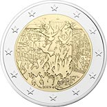 2 euro coin 30 Years of Fall of the Berlin Wall | France 2019