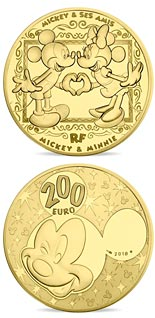 200 euro coin Mickey and friends | France 2018