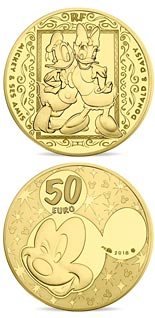 50 euro coin Mickey and friends | France 2018