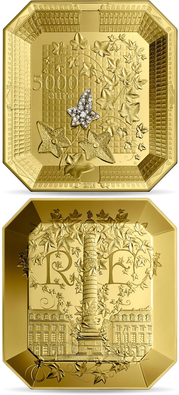 Image of 5000 euro coin - French Excellence Boucheron