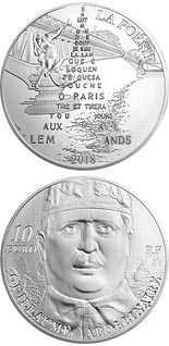 10 euro coin Guillaume Apollinaire | France 2018