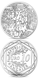 10 euro coin The Fall of Berlin Wall | France 2019