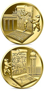 50 euro coin The Fall of Berlin Wall | France 2019