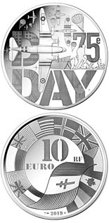 10 euro coin D-Day  | France 2019