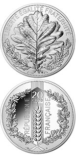 20 euro coin Nature of France: The Oak  | France 2020