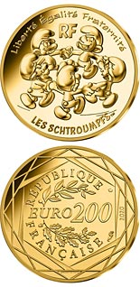 200 euro coin The round dance of the Smurfs | France 2020