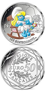 50 euro coin Baby Smurf | France 2020