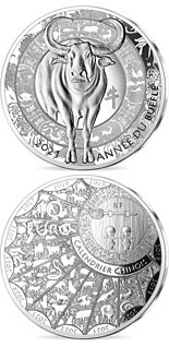 10 euro coin Year of the Buffalo | France 2021