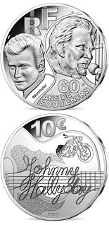 10 euro coin Johnny Hallyday 60 years of memories  | France 2020