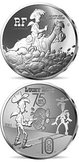 10 euro coin Lucky Luke – A cowboy in high cotton  | France 2021