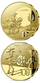 100 euro coin Lucky Luke - 75 Years | France 2021