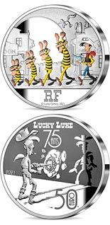 50 euro coin Lucky Luke - 75 Years | France 2021