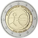 2 euro coin 10th Anniversary of the Introduction of the Euro | Germany 2009