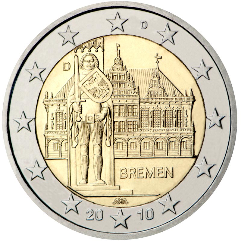 Image of 2 euro coin Federal state of Bremen  | Germany 2010