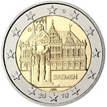 2 euro coin Federal state of Bremen  | Germany 2010
