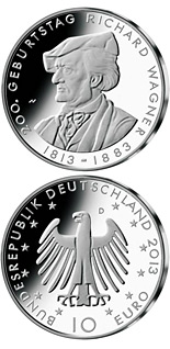 10 euro coin 200. Geburtstag Richard Wagner  | Germany 2013