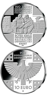 10 euro coin 150 Jahre Rotes Kreuz  | Germany 2013