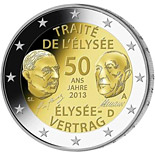2 euro 50 Years of the Élysée Treaty - 2013 - Series: Commemorative 2 euro coins - Germany