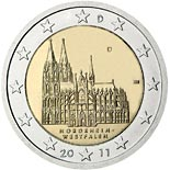 2 euro coin Federal state of North Rhine-Westphalia  | Germany 2011