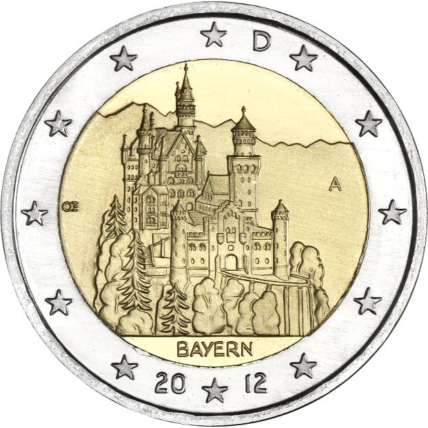 Image of 2 euro coin Bavaria  | Germany 2012