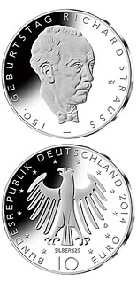 10 euro coin 150. Geburtstag Richard Strauss | Germany 2014