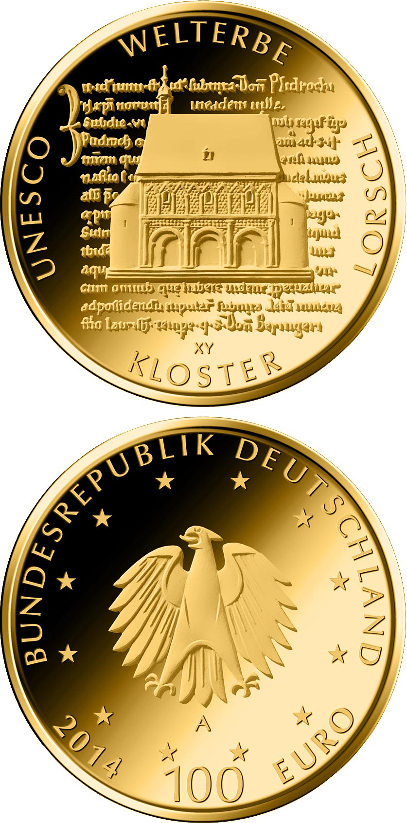 100 euro UNESCO Welterbe - Kloster Lorsch - 2014 - Series: Gold 100 euro coins - Germany