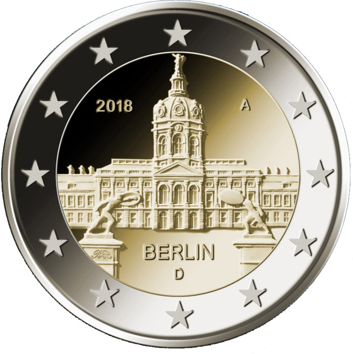 Image of 2 euro coin - Berlin: Schloss Charlottenburg | Germany 2018
