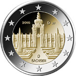 2 euro Sachsen: Dresdner Zwinger - 2016 - Series: Commemorative 2 euro coins - Germany