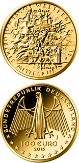 100 euro coin UNESCO Welterbe - Oberes Mittelrheintal | Germany 2015