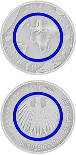 5 euro coin Blauer Planet Erde | Germany 2016