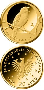 20 euro Nachtigall  - 2016 - Series: Birds - Germany