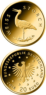 20 euro coin Weißstorch  | Germany 2020