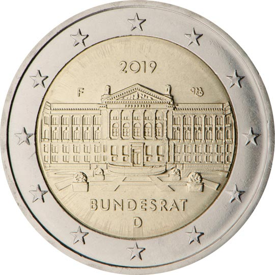Image of 2 euro coin - Bun­des­rat | Germany 2019