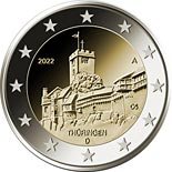 2 euro coin Thüringen - Wartburg Castle in Eisenach | Germany 2022