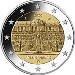 2 euro coin Brandenburg - Sanssouci Palace in Potsdam | Germany 2020