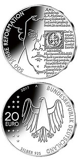 20 euro coin 500 Jahre Reformation  | Germany 2017