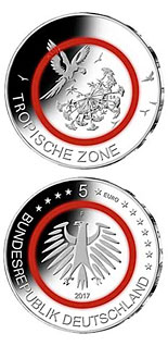 5 euro coin Tropische Zone | Germany 2017