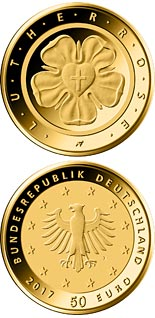 50 euro coin Lu­ther­ro­se | Germany 2017