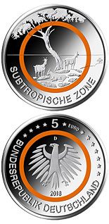 5 euro coin Subtropische Zone | Germany 2018