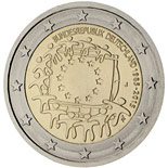 2 euro coin The 30th anniversary of the EU flag | Germany 2015
