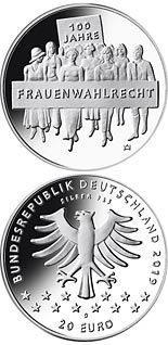 20 euro coin 100 Jahre Frauenwahlrecht  | Germany 2019